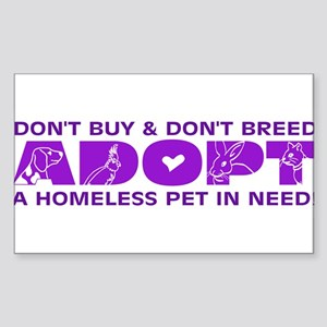 Adopt-purple Sticker