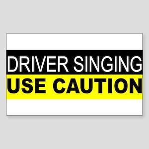 Driver Singing Sticker