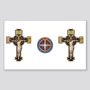 Benedictine Crucifix and Medal Sticker