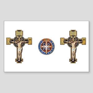 Benedictine Crucifix and Medal Sticker
