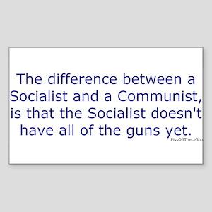 Socialist and Communist Rectangle Sticker