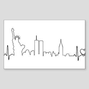 New York Heartbeat (Heart) Sticker