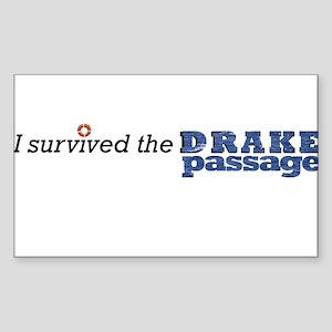 I survived the Drake Passage Sticker (Rectangle)