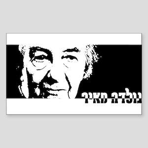 Golda Meir Rectangle Sticker )