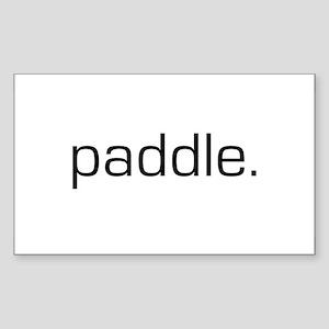 Paddle Rectangle Sticker