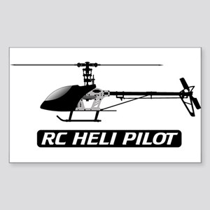 RC Heli Pilot Rectangle Sticker
