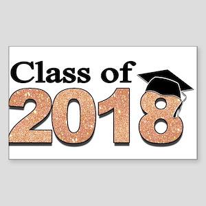 Class of 2018 Glitter Sticker