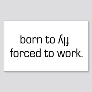 Born To Fly Inverted Rectangle Sticker