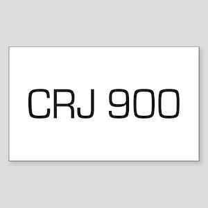 CRJ 900 Rectangle Sticker