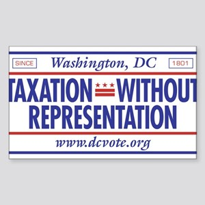 Taxation Without Representation Sticker