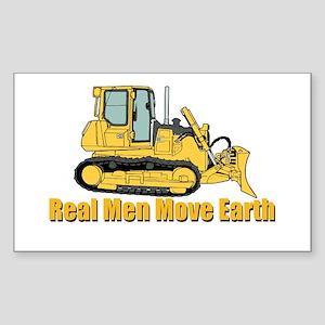 Real Men Move Earth Sticker