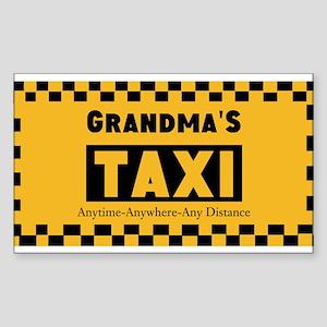 Grandma Taxi Sticker