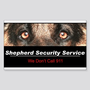 Shepherd Security Service Sticker (Rectangle)