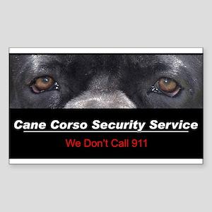 Cane Corso Security Service Sticker (Rectangle)