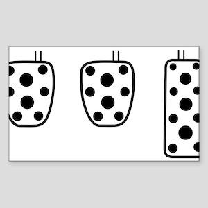 3 better than 2 Sticker (Rectangle)