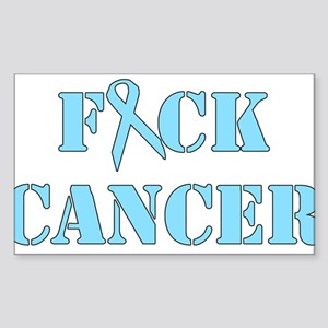 F*ck Cancer Light Blue Sticker