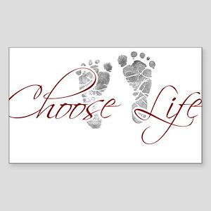 choos life Sticker (Rectangle)