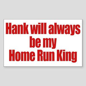 Hank Home Run Rectangle Sticker