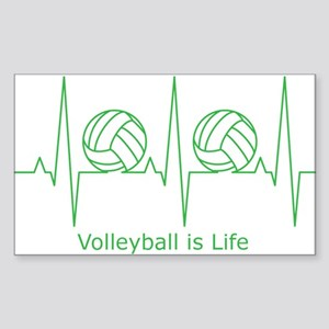 Volleyball is Life Sticker (Rectangle)