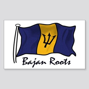 Bajan roots Rectangle Sticker