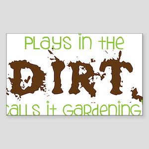 Dirty Dirt Sticker (Rectangle)