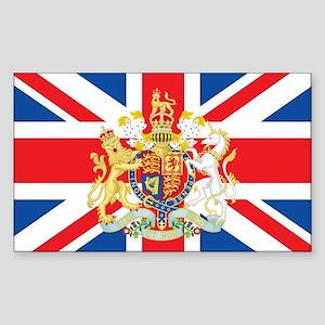 British Flag with Royal Crest Sticker