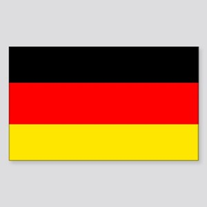 German Flag Sticker (Rectangle)