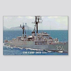 USS CAMP Rectangle Sticker
