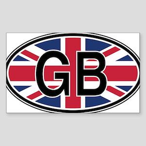 Great Britain Euro Oval Sticker Sticker