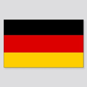 German Flag Rectangle Sticker