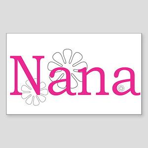 Nana Name Pink Sticker (Rectangle)