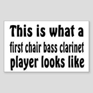 Bass Clarinet Rectangle Sticker
