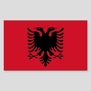 Albanian Flag Rectangle Sticker