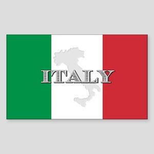 Italian Flag Extra Rectangle Sticker