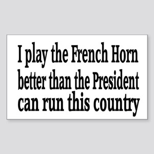French Horn Rectangle Sticker