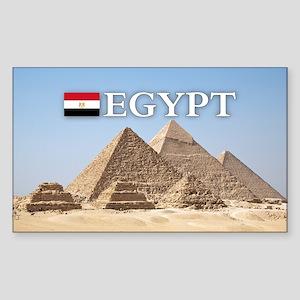 Giza Pyramids in Egypt Sticker (Rectangle)