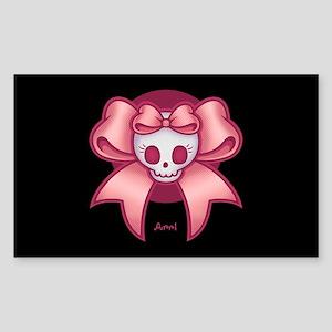 Skull 'n Bows Sticker (Rectangle)