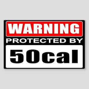 Warning 50cal Sticker (Rectangle)