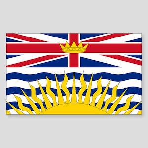 BC Flag Rectangle Sticker