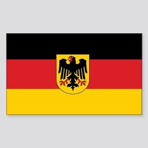 Germany State Flag Rectangle Sticker