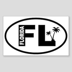 Florida Palm Trees Oval Sticker