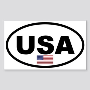 Basic USA Flag Oval Sticker