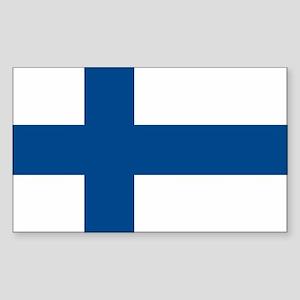 Finland Flag Rectangle Sticker