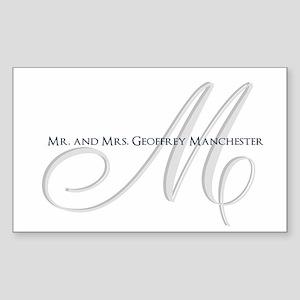 Elegant Name and Monogram Sticker