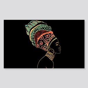 African Woman Sticker (Rectangle)