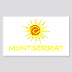 Montserrat Rectangle Sticker