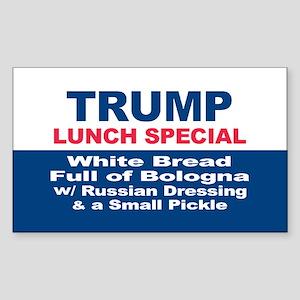 President Trump Lunch Special Sticker