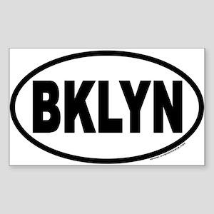 Brooklyn, New York BKLYN Euro Oval Sticker