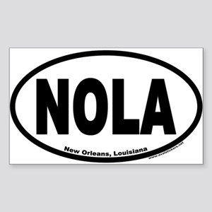 "New Orleans, Louisiana ""NOLA"" Oval Sticker"