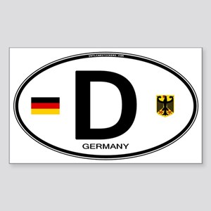 Germany Country Code Oval Oval Sticker